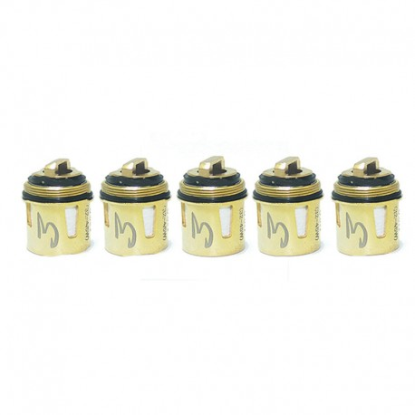 Authentic Cool Vapor Lava 1.5 Sub-Ohm Tank Replacement Coil Head - Gold, 0.5ohm (5 PCS)