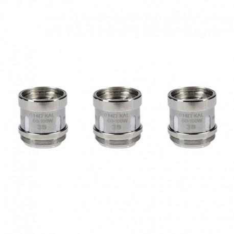 Authentic Innokin Plexar Vape Starter Kit / Sub Ohm Tank Replacement Scion Plex3D KAL Coil - Silver, 0.14ohm (60~100W) (3 PCS)