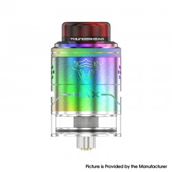 Authentic ThunderHead Creations THC Tauren Max RDTA Rebuildable Dripping Tank Vape Atomizer - Rainbow, SS, 2ml /4.5ml, 25mm Dia.
