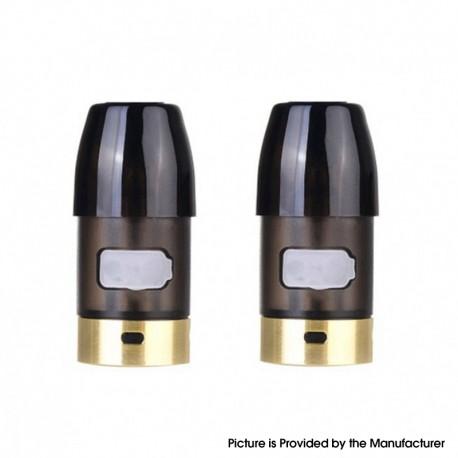 Authentic CoilART Fancy Pod System Vape Kit Replacement Empty Pod Cartridges - Black, 2ml (2 PCS)