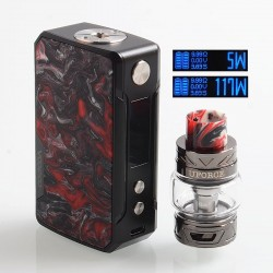[Ships from HongKong] Authentic Voopoo Drag Mini 117W 4400mAh TC VW Mod + UForce T2 Tank Kit - B-Rhodonite, 5~117W, 5ml, 28mm