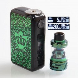 [Ships from HongKong] Authentic Uwell Crown 4 IV 200W TC VW Box Mod + Crown 4 IV Tank Kit - Green, 5~200W, 2 x 18650, 6ml