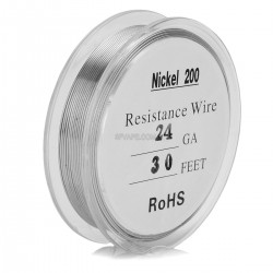 24 AWG Ni200 Non Resistance Wire for RBA / RDA Rebuildable Atomizers - Silver, 0.51mm x 10m / 0.175 ohm/cm