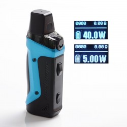[Ships from HongKong] Authentic GeekVape Aegis Boost 40W 1500mAh VW Box Mod Pod System Kit - Almighty Blue, 3.7ml, 0.6ohm, 5~40W
