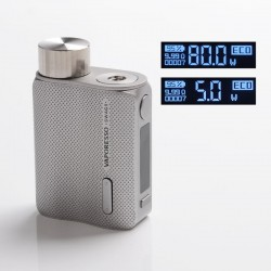 [Ships from HongKong] Authentic Vaporesso SWAG II 2 80W Variable Wattage Box Mod - Silver, 5~80W, 0.03~5.0ohm, 1 x 18650