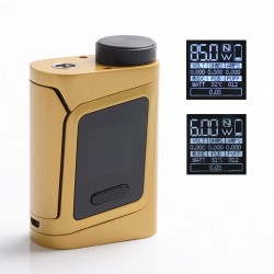 Authentic SMOKTech SMOK AL85 85W TC VW Variable Wattage Box Vape Mod - Gold, 1~85W, 200~600'F / 100~315'C, 1 x 18650