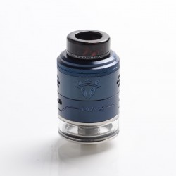 Authentic ThunderHead Creations THC Tauren Max RDTA Rebuildable Dripping Tank Vape Atomizer - Blue, SS, 2ml /4.5ml, 25mm Dia.