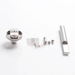 Authentic Steam Crave Rebuildable Mesh Deck w/ BF Pin for Aromamizer Plus / Plus V2 RDTA / Ragnar RDTA - Silver, Stainless Steel
