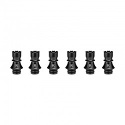 Authentic KIZOKU Chess Series Replacement 510 Drip Tip for RDA / RTA/ RDTA / Sub-Ohm Tank Atomizer - Black, Rook, 22.3mm (6 PCS)