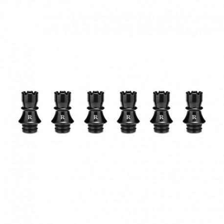 Authentic KIZOKU Chess Series Replacement 510 Drip Tip for RDA / RTA/ RDTA / Sub-Ohm Tank Atomizer - Black, Rook, 22.3mm (6 PCS)