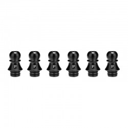 Authentic KIZOKU Chess Series Replacement 510 Drip Tip for RDA / RTA/ RDTA / Sub-Ohm Tank Atomizer - Black, Pawn, 21.1mm (6 PCS)