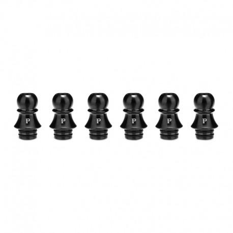 Authentic KIZOKU Chess Series Replacement 510 Drip Tip for RDA / RTA/ RDTA / Sub-Ohm Tank Atomizer - Black, Pawn, 21.1mm (6 PCS)