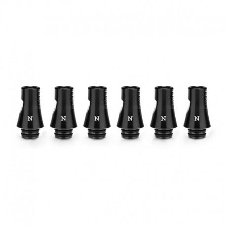 Authentic KIZOKU Chess Series Replacement 510 Drip Tip for RDA / RTA/RDTA/Sub-Ohm Tank Atomizer - Black, Knight, 24.19mm (6 PCS)