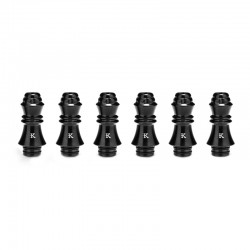 Authentic KIZOKU Chess Series Replacement 510 Drip Tip for RDA / RTA/ RDTA /Sub-Ohm Tank Atomizer - Black, King, 29.51mm (6 PCS)