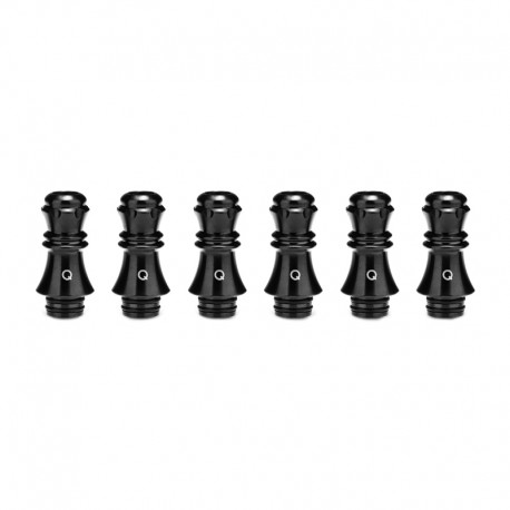 Authentic KIZOKU Chess Series Replacement 510 Drip Tip for RDA / RTA/ RDTA/Sub-Ohm Tank Atomizer - Black, Queen, 27.89mm (6 PCS)