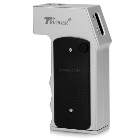 YiLoong Trigger Style Temperature Control VW Variable Wattage Box Mod - Silver, Aluminum, 1~40W, 1 x 18650
