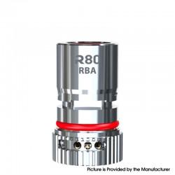 Authentic Wismec R80 Pod System Vape Kit / Cartridge Replacement Bottom Airflow Control RBA Coil Head - Silver
