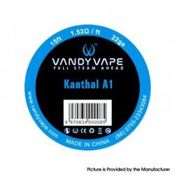 Authentic Vandy Vape Kanthal Wire for RBA / RDA / RTA / RDTA Vape Atomizer - Kanthal A1, 22GA, 1.52ohm/ft, 15ft