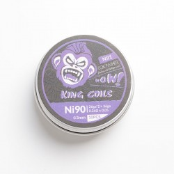 Authentic Coil Father N91 King Coils for RBA / RDA / RTA / RDTA - Ni90, 26GA x 2 + 36GA, 0.26 +/- 0.05ohm, 3mm, 6 Wraps (10 PCS)