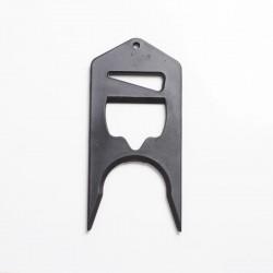 Authentic Coil Father Shortfill Cap Opener Tool for 60ml E-juice / E-liquid Bottle - Black, PC, 93 x 44mm