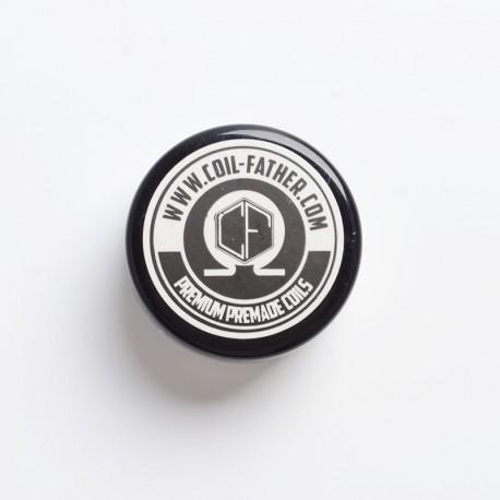 Authentic Coil Father Premium Premade Tiger Coils for RBA / RDA /RTA/RDTA Atomizer - 26GA + 0.2 x 0.8, 0.36ohm, 6 Wraps (10 PCS)