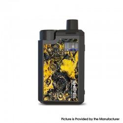 Authentic Hotcig Sniper 18650 80W VW Box Mod Pod System Vape Starter Kit - Canola Yellow, 3.2ml, 0.17ohm / 0.4ohm, 1 x 18650