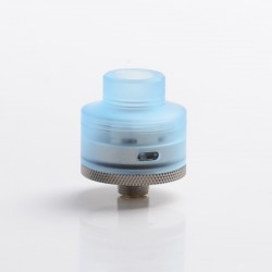 Authentic Gas Mods G.R.1 GR1 S RDA Rebuildable Dripping Vape Atomizer w/ BF Pin - Transparent Blue, SS + PMMA, 22mm Diameter