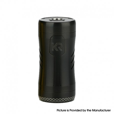Authentic KIZOKU Kirin Semi-Mech Mechanical Tube Vape Mod - Black Brushed, Stainless Steel, 1 x 18350 / 18650