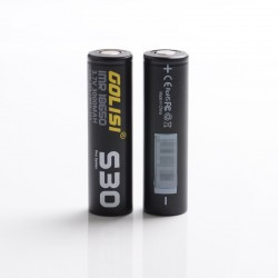 [Ships from Battery Warehouse] Authentic Golisi S30 IMR 18650 3000mAh 3.7V 35A Flat Top Rechargeable Battery - Black (2 PCS)