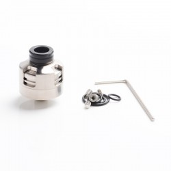Vapeasy Armor Engine Style RDA Rebuildable Dripping Atomizer w/ BF Pin - Silver, Titanium Alloy, 22mm Diameter