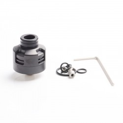 Vapeasy Armor Engine Style RDA Rebuildable Dripping Atomizer w/ BF Pin - Black, 316 Stainless Steel, 22mm Diameter