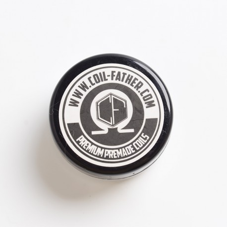 Authentic Coil Father Premium Premade Clapton Coils for RBA/RDA/RTA/RDTA Atomizer - 26GA + 32GA, 0.45~0.5ohm, 6 Wraps (10 PCS)