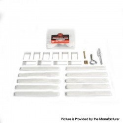 Authentic Coil Master ReBuild Kit for GeekVape Boost Kit - 1 Opening Pry Tool Kit + 40 Cottons + 10 Ni80 Mesh Coils (0.4ohm)