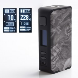 Authentic Rincoe Manto Pro 228W TC VW Variable Wattage Box Vape Mod - Dead Skull, 1~228W, 200~600'F, 2 x 18650