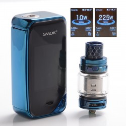 Authentic SMOKTech SMOK X-Priv 225W TC VW Box Vape Mod + TFV12 Prince Standard Kit - Prism Blue, 8ml, 1~225W, 2 x 18650