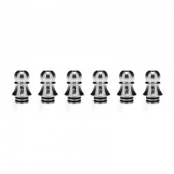 Authentic KIZOKU Chess Series Replacement 510 Drip Tip for RDA / RTA/ RDTA /Sub-Ohm Tank Atomizer - Silver, Pawn, 21.1mm (6 PCS)