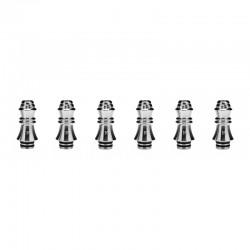 Authentic KIZOKU Chess Series Replacement 510 Drip Tip for RDA / RTA/ RDTA/Sub-Ohm Tank Atomizer - Silver, King, 29.51mm (6 PCS)