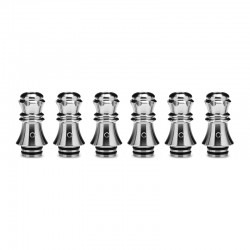Authentic KIZOKU Chess Series Replacement 510 Drip Tip for RDA / RTA/RDTA/Sub-Ohm Tank Atomizer - Silver, Queen, 27.89mm (6 PCS)