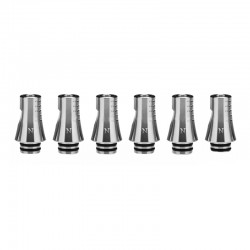 Authentic KIZOKU Chess Series Replacement 510 Drip Tip for RDA /RTA/RDTA/Sub-Ohm Tank Atomizer - Silver, Knight, 24.19mm (6 PCS)