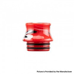 Authentic Reewape AS300 Replacement 810 Drip Tip for SMOK TFV8 / TFV12 Tank / Kennedy / Battle / Reload RDA - Red, Resin, 15mm