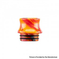Authentic Reewape AS300 Replacement 810 Drip Tip for SMOK TFV8 / TFV12 Tank / Kennedy / Battle /Reload RDA - Yellow, Resin, 15mm