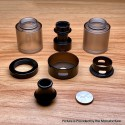 Wormhole Style Top Cap Tank Tube + Drip Tip + Top Ring + Chimney & Chimney Base + Coin + Beauty Ring for Dvarw DL 24mm Tank