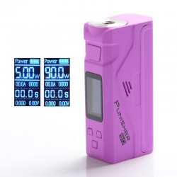 Authentic Dovpo Punisher 90W TC VW Variable Wattage Box Mod - Purple, 5~90W, 1 x 18650 / 20700 / 21700