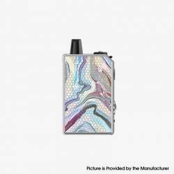 Authentic Teslacigs Invader GT 50W 1200mAh VW Box Mod Pod System Vape Starter Kit - Ice Fire Phoenix, Aluminum Alloy, 3ml, 7~50W