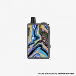 Authentic Teslacigs Invader GT 50W 1200mAh VW Box Mod Pod System Vape Starter Kit - Blue Phoenix, Aluminum Alloy, 3ml, 7~50W