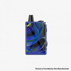 Authentic Teslacigs Invader GT 50W 1200mAh VW Box Mod Pod System Vape Starter Kit - Orchid Realm, Aluminum Alloy, 3ml, 7~50W