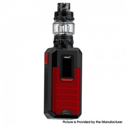 Authentic Smoant Ladon 225W TC VW Box Vape Mod + AIO 2in1 Tank Vape Kit - Red, 1~225W, 100~300'C / 200~600'F, 2 x 18650