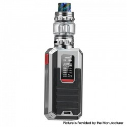 Authentic Smoant Ladon 225W TC VW Box Vape Mod + AIO 2in1 Tank Vape Kit - Silver, 1~225W, 100~300'C / 200~600'F, 2 x 18650