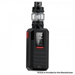 Authentic Smoant Ladon 225W TC VW Box Vape Mod + AIO 2in1 Tank Vape Kit - Black, 1~225W, 100~300'C / 200~600'F, 2 x 18650