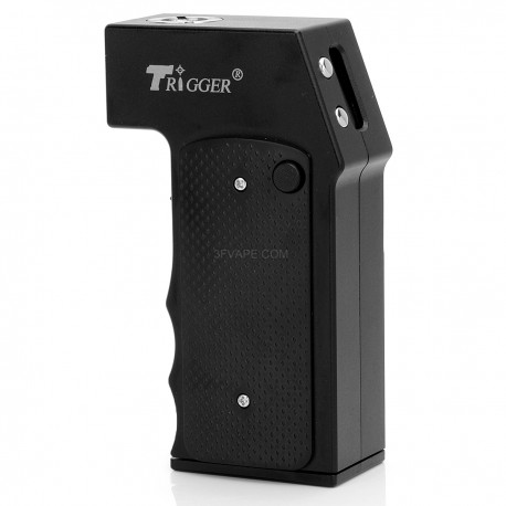 Yiloong Trigger Style Temperature Control VW Variable Wattage Box Mod - Black, Aluminum, 1~40W, 1 x 18650